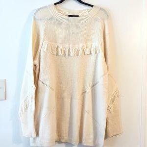 Lane Bryant Sweater Chunky Fringe Boho Tunic 22-24